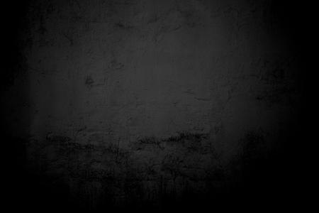 black wall: Weathered black concrete wall Stock Photo