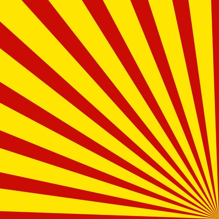red yellow: Background with rays - Red Yellow Stock Photo