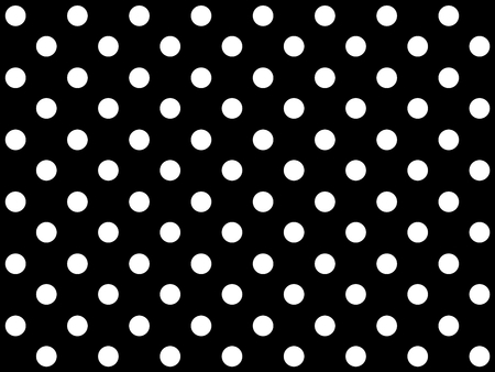 on white: Traditional black background with white dots