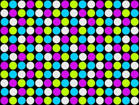 Background black with coloful dots