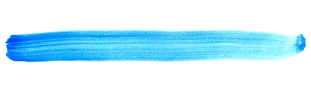 blue stripe: Isolated painted stripe with blue turquoise color
