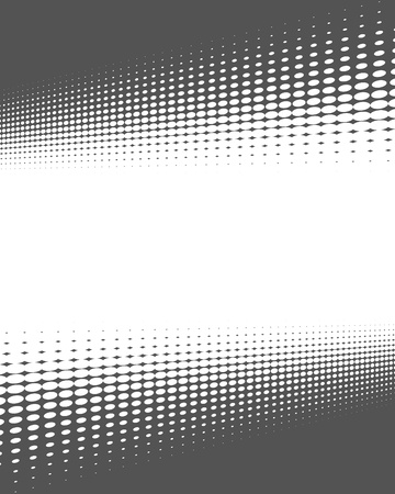 gray dot: Frame with gradient dark grey dots and white background Stock Photo