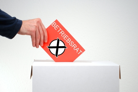 Election for employee representatives in german language Banque d'images