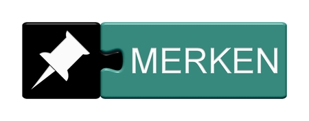 memorise: Isolated Puzzle Button with Symbol showing Memorise in german language