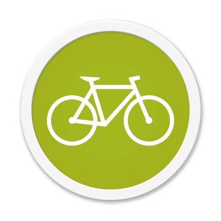 Green round Button with symbol showing Bike