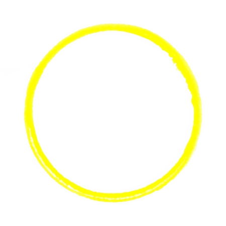 watercolour: Isolated painted round circle ring with yellow color Stock Photo