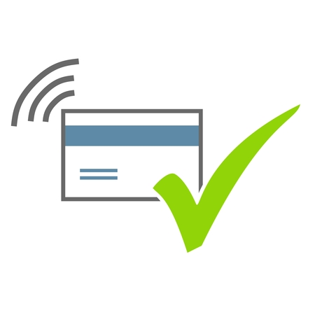 Isolated Icon of Credit Card with green tick