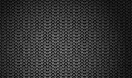 metal mesh: Dark Hexagon background