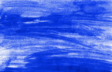 Painted background with untidy blue color