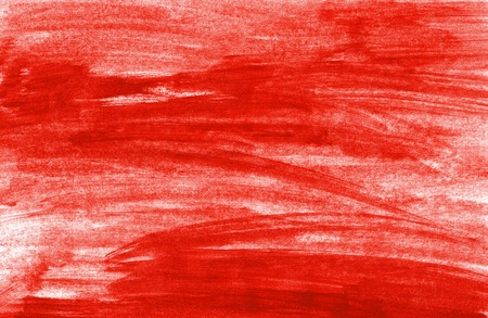 Painted background with untidy red color