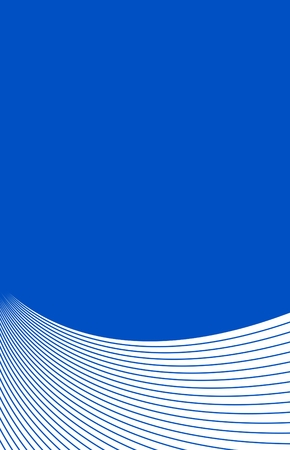 Blue and white upright background card with curved lines Stock Photo