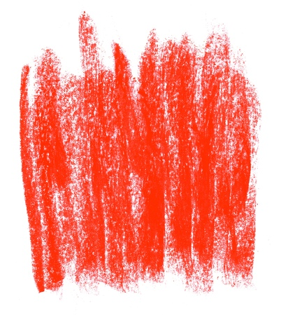Untidy isolated red painted chalk texture