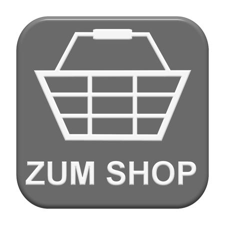 Modern geïsoleerd grijs Knop: om te winkelen in de Duitse taal Stockfoto - 92270075