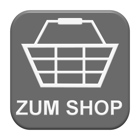 Modern isolated grey Button: To Shop in german language