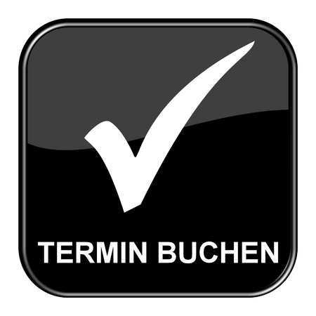 Shiny isolated black Button: Make Appointment in german language