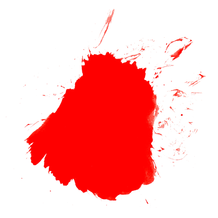 Isolated red splash on white background