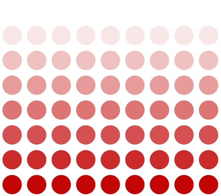 White background and red circles with color transition