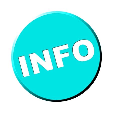 Light blue Info Button