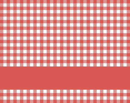 Traditional rustic red white tablecloth texture with blue stripe for text