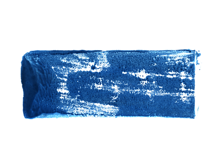 Isolated dirty dark blue color stripe