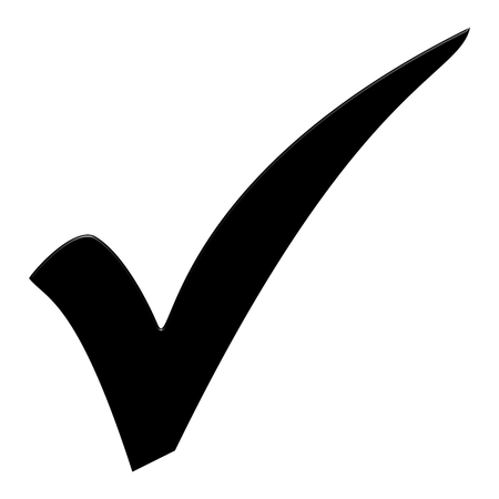Isolated black tick symbol for checklist Stock Photo