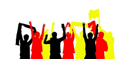 1 681 Football Fans Cheering Stock Illustrations Cliparts
