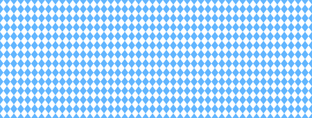 Wide bavarian background banner with seamless blue and white diamonds