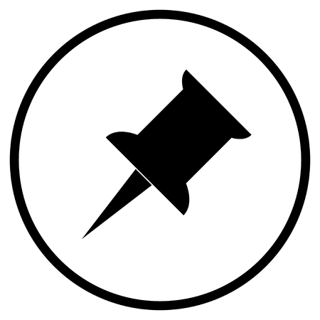 Pin Symbol - Flat Icon in circle for Save Remember or Notice Фото со стока
