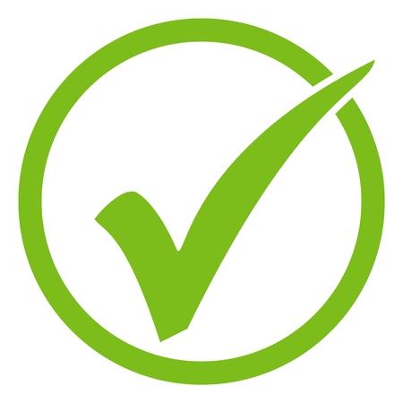 Icône de coche verte isolée en cercle Banque d'images