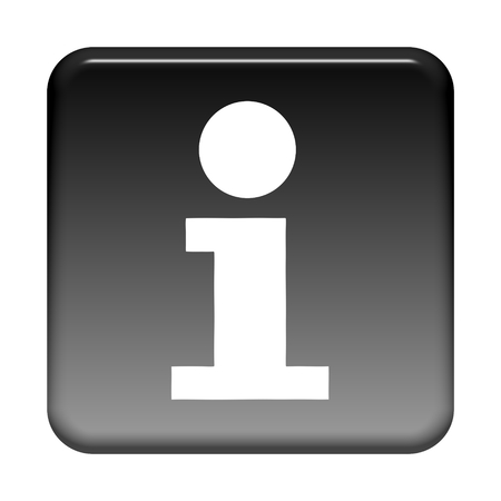 Shiny isolated black Button: Info symbol
