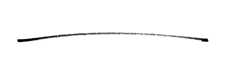 Very long hand painted black pencil line - Hand drawn with dark color