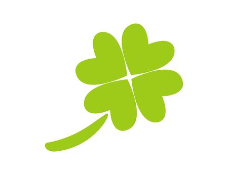 Good Luck - Green clover icon symbol Stock Photo
