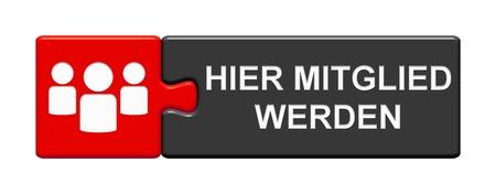 Bouton avec des symboles de personnes montrant : Devenez membre elle en langue allemande