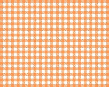 Tischdecke Hintergrundtextur kariert rot orange und weiß Standard-Bild