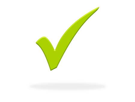 Green Tick icon - Symbol for Check, Choice, Ok, Approved or Success Stockfoto - 119982024