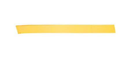 Long orange yellow tape stripe on white background Standard-Bild - 121776830