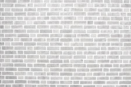 Old light grey brick wall background texture 免版税图像