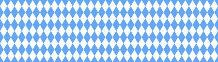 Drapeau bavarois sans couture avec motif à carreaux bleu et blanc Banque d'images
