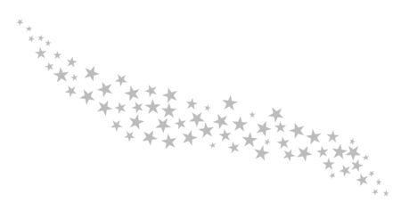 Silver grey isolated christmas stars background
