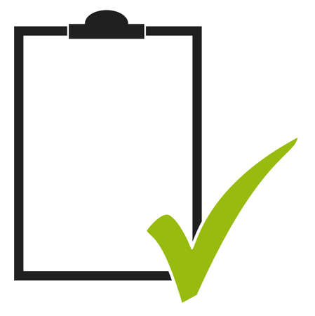 Illustration of empty clipboard or checklist with green check mark