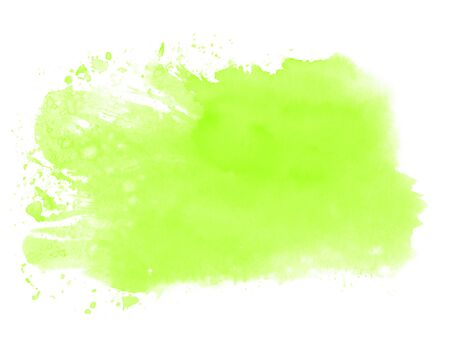Light green watercolor texture - Hand painted with paintbrush