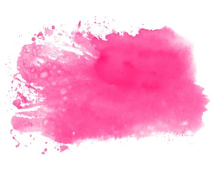Pink watercolor texture - Hand painted with paintbrush