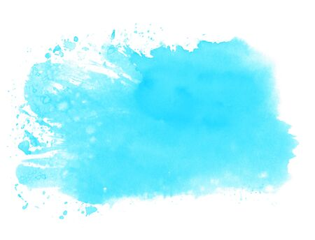 Light blue watercolor texture - Hand painted with paintbrush