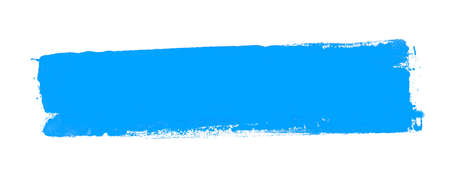 Dirty isolated light blue graffiti stripe with copy space