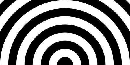 Semicircle with black and white color