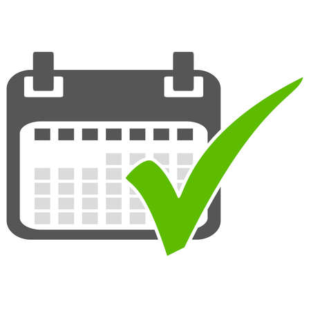 Save the Date - Calendar icon with green tick