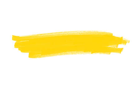 Highlight for headline made with yellow pencil