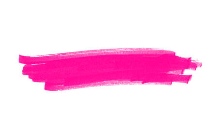 Highlight for headline made with pink pencil