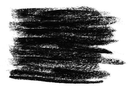 Dirty scribble of black chalk or crayon stripes