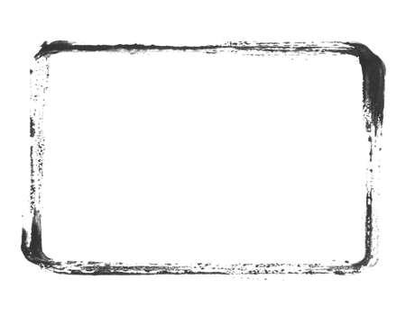 Black empty stencil banner with grunge frame